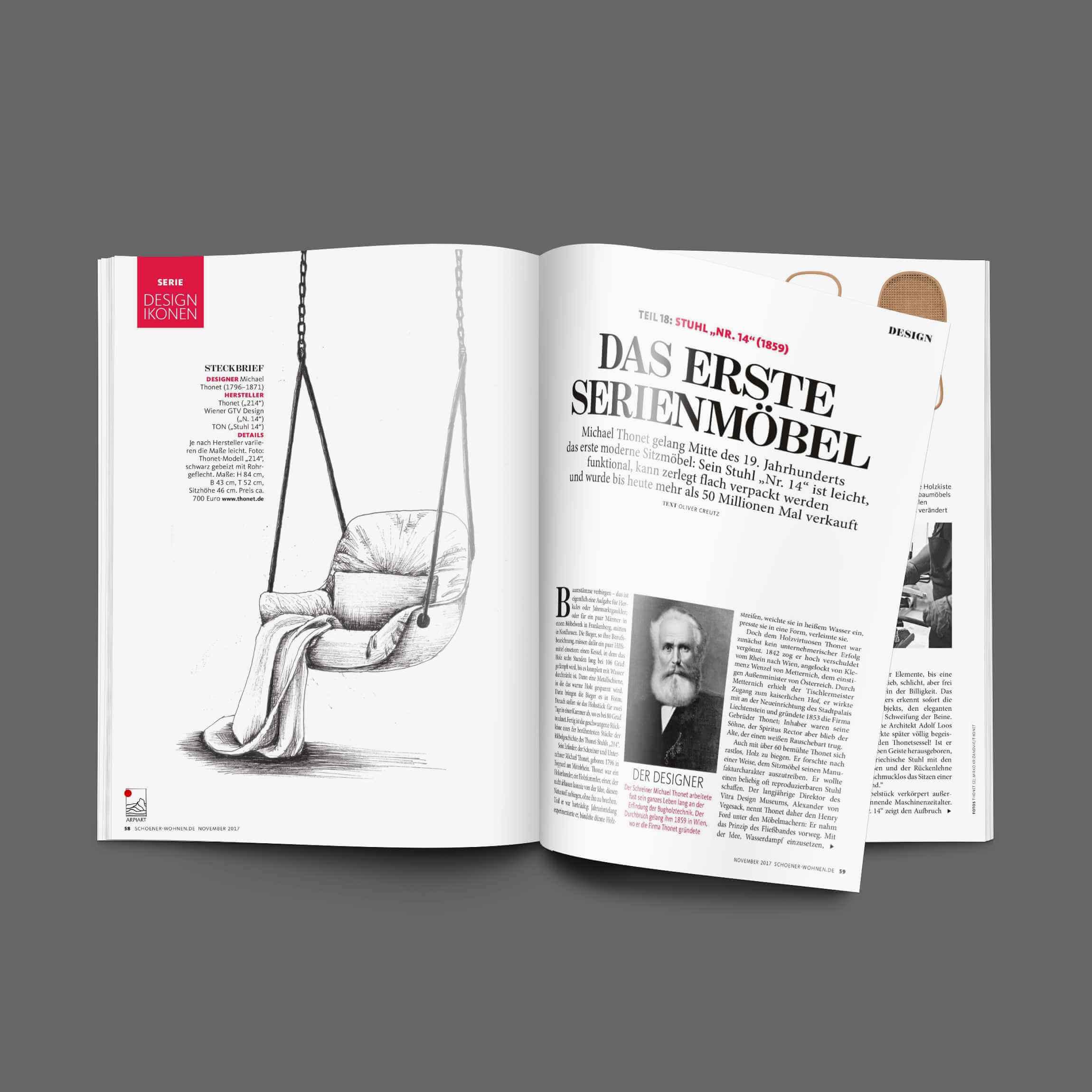 print design magazine seite layout